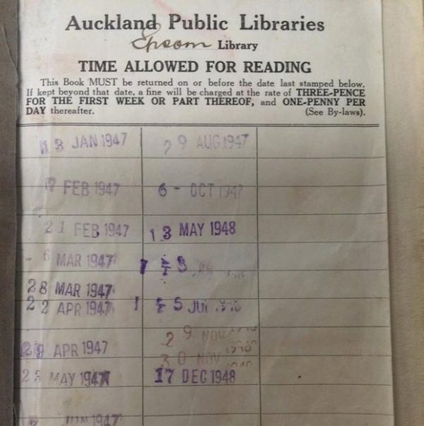 Library Book Returned After 67 Years